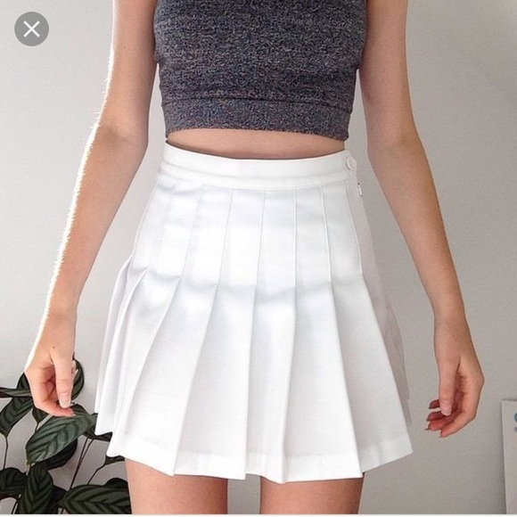 d0a2fab34c American Apparel Skirts | Pleated White Tennis Skirt | Poshmark